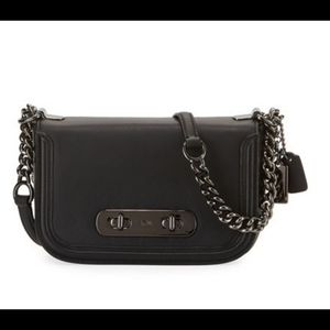 Coach Swagger 20 Shoulder Bag NWT Black Leather